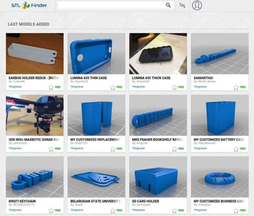 Imagen de Modelos 3D gratuitos: STLFinder