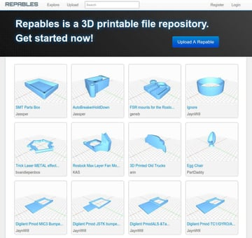 Image of Free STL Files, 3D Printer Files, 3D Printer Models & 3D Printing Designs: Repables