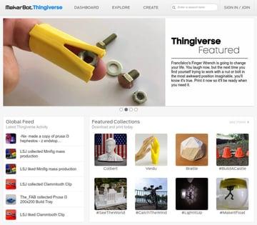 Imagen de Modelos 3D gratuitos: Thingiverse