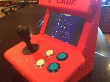 Image of Retropie-Gehäuse zum 3D-drucken für Raspberry Pi (Handheld)-Konsolen: The Pi-Cade (Raspberry Pi Gehäuse)