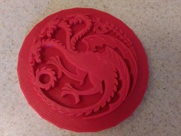 Image of Game of Thrones 3D Models to 3D Print: Targaryen Dragon Sigil