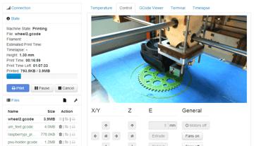Imagem de Software para impressora 3D: fatiamento e gerenciamento da impressora 3D: OctoPrint