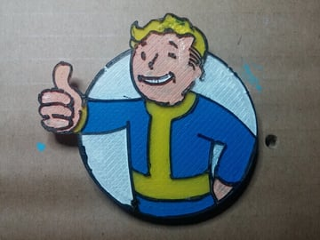 Image of Fallout Props & Toys to 3D Print: The Fallout Vault-Tec Boy Coaster