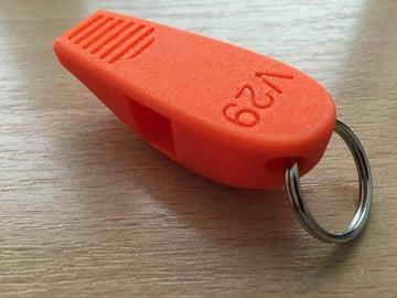 Image de Objets 3D utiles à imprimer en 3D: Sifflet de survie