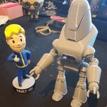 Image of Fallout Props & Toys to 3D Print: Protectron Action Figure