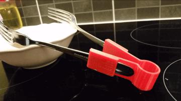 Image of 30 tolle Küchenhelfer aus dem 3D-Drucker: Spaghettizange