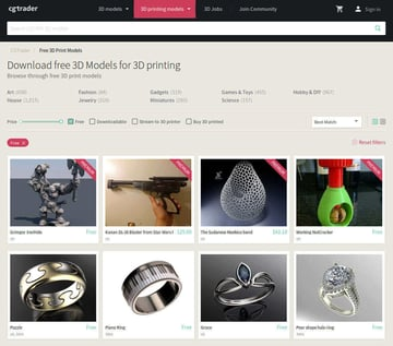 Imagem de Melhores sites para baixar modelos 3D gratuitos: CGTrader