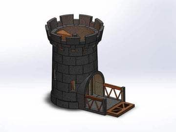Image of Great Ideas For 3D Settlers of Catan to 3D Print: Bonus: A Catan-themed Dice Tower