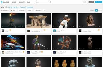 Imagen de Modelos 3D gratuitos: Sketchfab