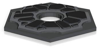 Image of Great Ideas For 3D Settlers of Catan to 3D Print: Ore Tile