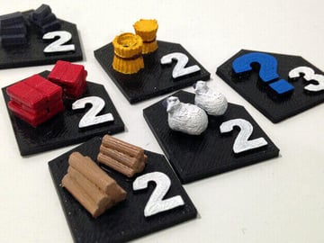 Image of Great Ideas For 3D Settlers of Catan to 3D Print: Port Tiles