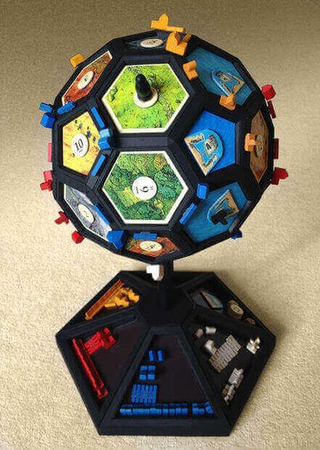 Image of Great Ideas For 3D Settlers of Catan to 3D Print: Globefarers of Catan