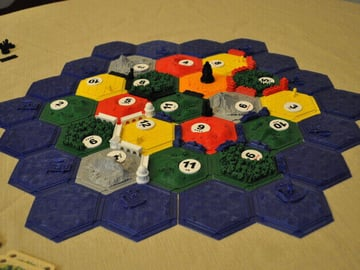 Image of Great Ideas For 3D Settlers of Catan to 3D Print: Complete Set