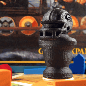 Image of Great Ideas For 3D Settlers of Catan to 3D Print: Green Bay Packers Robber