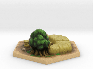 Image of Great Ideas For 3D Settlers of Catan to 3D Print: Wheat Tile