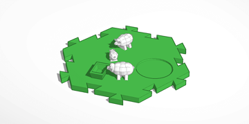 Image of Great Ideas For 3D Settlers of Catan to 3D Print: Sheep Tile