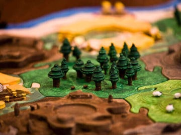 Image of Great Ideas For 3D Settlers of Catan to 3D Print: Wood tile