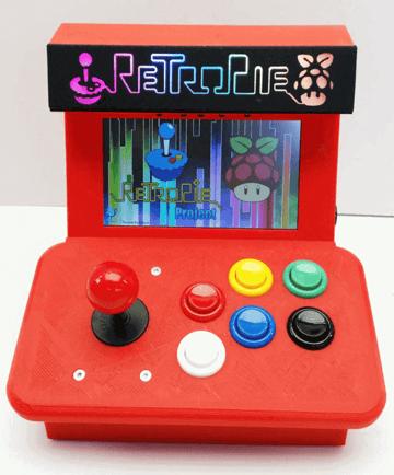Image of Retropie-Gehäuse zum 3D-drucken für Raspberry Pi (Handheld)-Konsolen: Mini Arcade (Raspberry Pi Arcade Gehäuse)