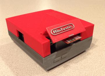 Image of Retropie-Gehäuse zum 3D-drucken für Raspberry Pi (Handheld)-Konsolen: NinTastic (Raspberry Pi NES Gehäuse)