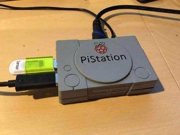 Image of Retropie-Gehäuse zum 3D-drucken für Raspberry Pi (Handheld)-Konsolen: PiStation (Raspberry Pi PlayStation Gehäuse)