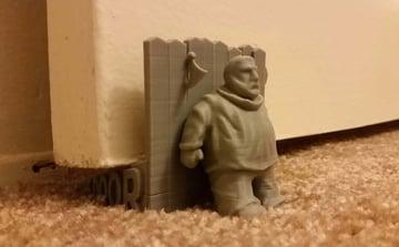 Image of Game of Thrones 3D Models to 3D Print: Hodor Door Stopper