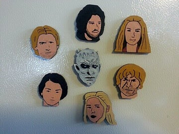 Image of Game of Thrones 3D Models to 3D Print: Game of Thrones Character… Magnets!