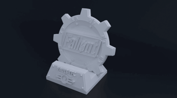 Image of Fallout Props & Toys to 3D Print: Fallout Themed Phone Dock