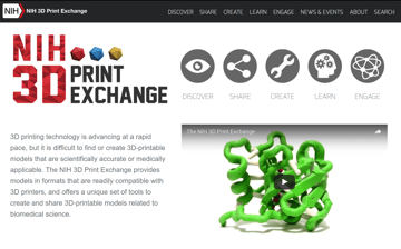 Image of Free STL Files, 3D Printer Files, 3D Printer Models & 3D Printing Designs: NIH 3D Print Exchange