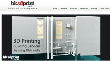 Image of Online-3D-Druck-Service-Dienstleister: HK3DPrint