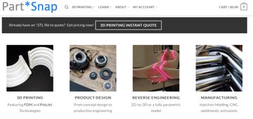 Imagen de Servicio de impresión 3D: PartSnap