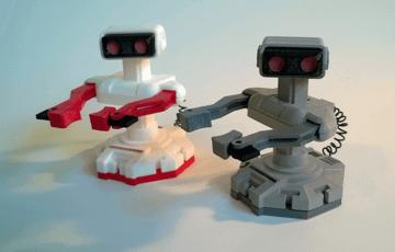 Image of Retropie-Gehäuse zum 3D-drucken für Raspberry Pi (Handheld)-Konsolen: Mini Nintendo R.O.B. (3D-Druck-Replika)