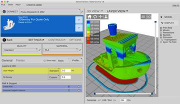 Imagen de Slicer 3D/Programma de corte para impresoras 3D: MatterControl