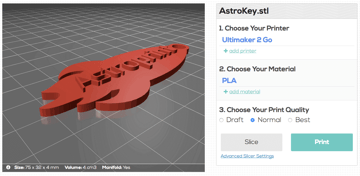 Imagen de Slicer 3D/Programma de corte para impresoras 3D: Astroprint