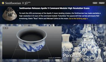 Imagem de Melhores sites para baixar modelos 3D gratuitos: Smithsonian X3D