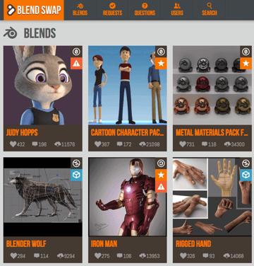 Imagem de Melhores sites para baixar modelos 3D gratuitos: Blendswap