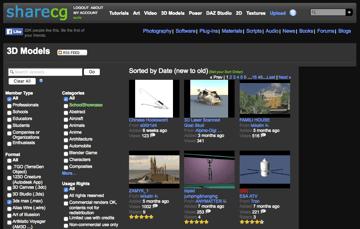 Imagem de Melhores sites para baixar modelos 3D gratuitos: ShareCG