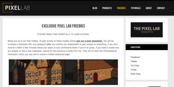 Imagem de Melhores sites para baixar modelos 3D gratuitos: PixelLab