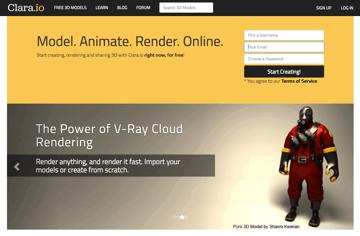 Imagem de Melhores sites para baixar modelos 3D gratuitos: Clara.io
