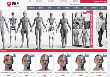Imagem de Melhores sites para baixar modelos 3D gratuitos: 3D Scanstore