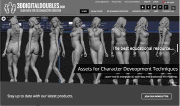 Imagem de Melhores sites para baixar modelos 3D gratuitos: 3D Digital Doubles