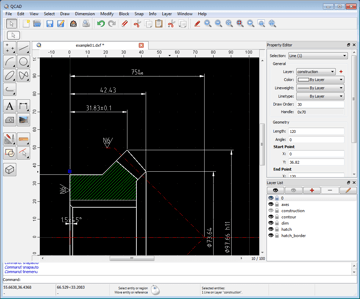 Image of Best Free CAD Software (2D/3D CAD Programs): QCAD