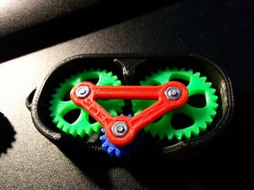 Image of Great DIY Fidget Toys & Fidget Spinner Alternatives: Fidget Gear Keyring