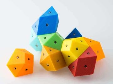 Image of Great DIY Fidget Toys & Fidget Spinner Alternatives: Magnetic Bisymmetric Hendecahedrons