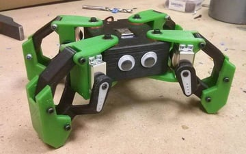 Image of 3D Printed Robot: Kame the Quadruped