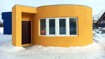 Image de Bâtiment / Structure / Maison imprimée en 3D: Apis Cor