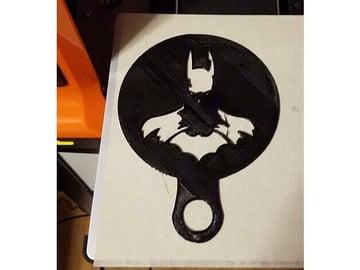 Image of Batman 3D Logos And Symbols: Coffee Stencil