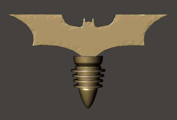 Image of Batman 3D Logos And Symbols: Wine Bottle Stopper