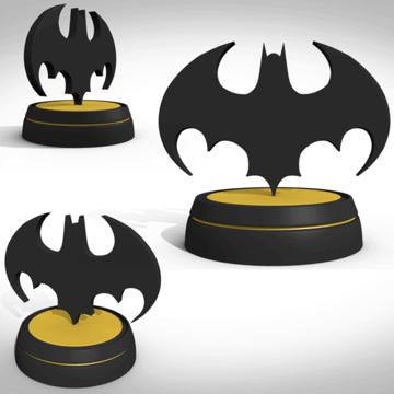 Image of Batman 3D Logos And Symbols: 1989 Standing Symbol