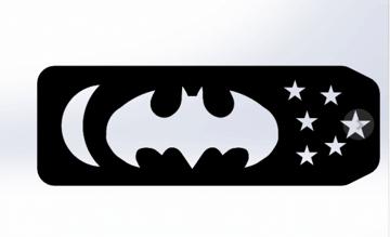 Image of Batman 3D Logos And Symbols: Dark Knight Bookmark