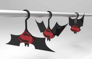 Image of Batman 3D Logos And Symbols: Batman vs. Superman Clothes Hanger